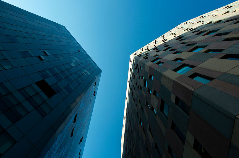 Building Exterior Architecture Built Structure Building City Sky Low Angle View Office Building Exterior Clear Sky Blue Modern Tall - High No People Office Nature Skyscraper Day Tower Outdoors Glass - Material Apartment Directly Below Financial District  Minimal Minimalism Minimalist Architecture Abstract Photography Abstract Simple Photography Shape