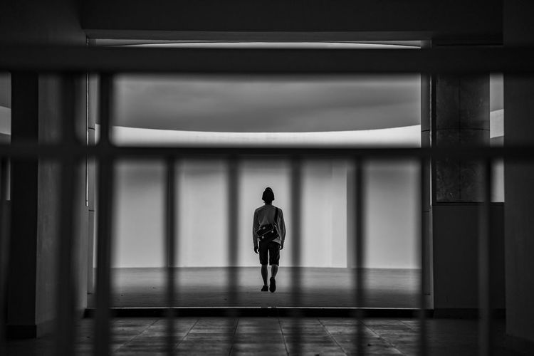 Block away One Person Full Length Architecture Real People Rear View Built Structure Indoors  Lifestyles Walking Men Building Leisure Activity Motion Architectural Column Adult Day Casual Clothing Illuminated Ceiling Blackandwhite Emotion Mood Alone Standing Column Striped Middle School Contrast Looking Foreground Tranquility Scenics Boy Young Adult EyeEm Best Shots EyeEmNewHere EyeEm Gallery Highlights Beautiful My Best Photo The Creative - 2019 EyeEm Awards The Portraitist - 2019 EyeEm Awards