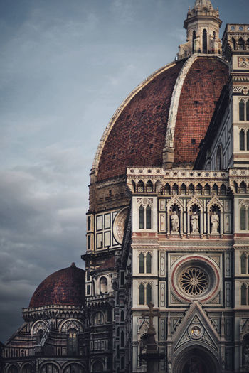 Low Angle View Of Florence Cathedral Against Cloudy Sky
