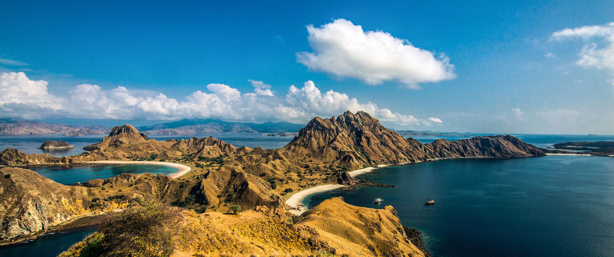 Padar Island Panorama Beauty In Nature Blue Cloud - Sky Day INDONESIA Indonesia_photography Komodo Labuan Labuanbajo Lake Landscape Mountain Mountain Range Nature No People Outdoors Padar Padar Island Panorama Physical Geography Rinca Scenics Sky Tranquility Water Been There. An Eye For Travel The Great Outdoors - 2018 EyeEm Awards The Traveler - 2018 EyeEm Awards