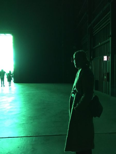 Film noir Cinematic Movielike EyeAmNewHere NeonArt Architecture Hangarbicocca Real People Lifestyles Leisure Activity Standing Green Color Indoors  Architecture EyeEmNewHere