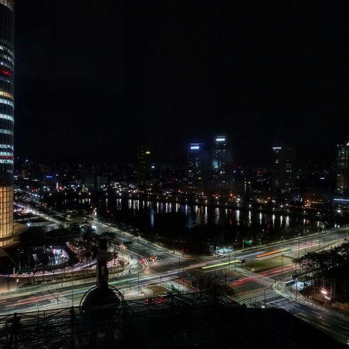 Korea Seoul Night City Illuminated Cityscape High Angle View Architecture Building Exterior City Life Skyscraper Travel Destinations RX100iv Night Photography Night View Night Lights Rush Hour Traffic Transportation Nightphotography Architecture Cityscape City Life City Nightlife