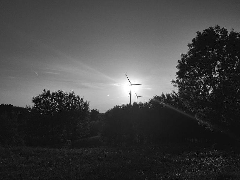 Taking Photos Suwałki Poland Sunset Wiatrak