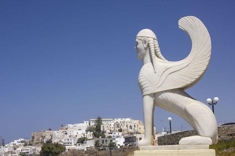 Sphinx of naxos, greece