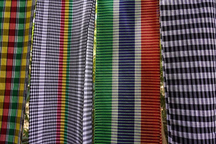 Full frame shot of multi colored clothing