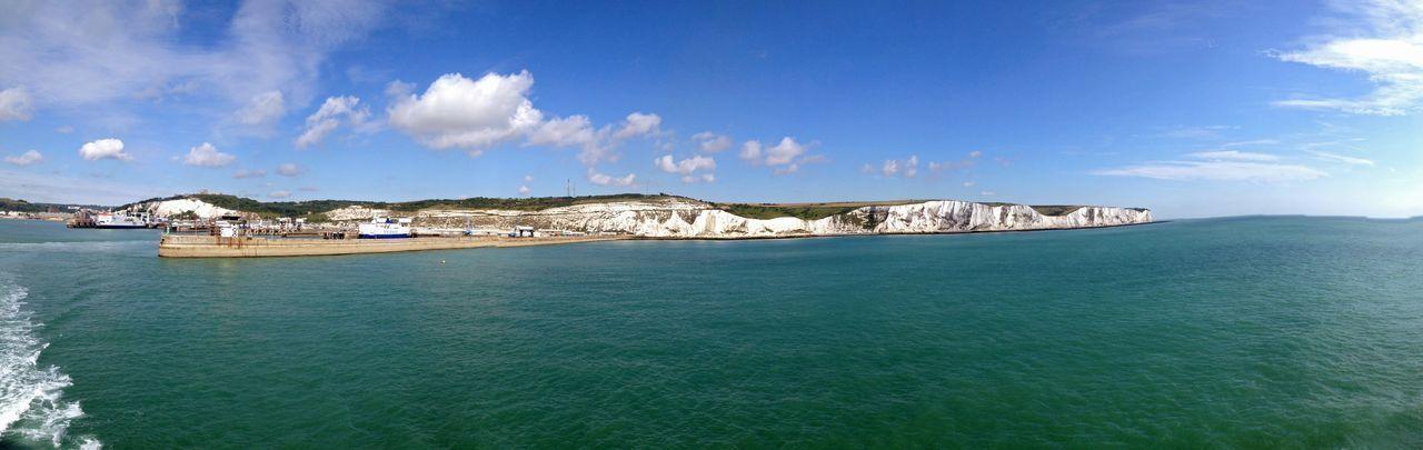 Port Dover Dover White Cliffs Of Dover The White Cliffs Port Harbour Kent England Panorama Landmark