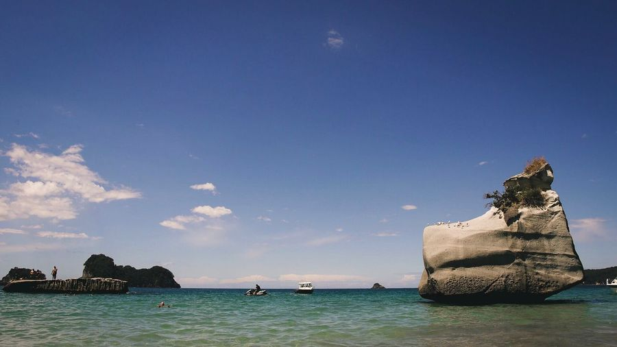 Cathedral Cove New Zealand Paradise Tropical Carribean Island Cove Cathedral Rocks Water Sea Sky Outdoors Nature Waterfront Day No People Beauty In Nature Scenics