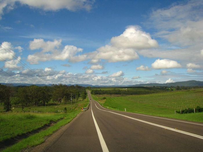 Hunter valley, NSW Road Landscape Vanishing Point Countryside No People First Eyeem Photo Sky