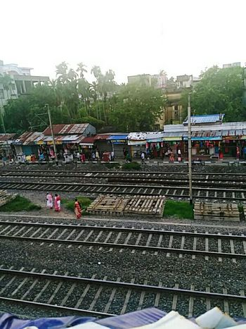 An Ariel View Of Rly. Track Of Shyamnagar Stn.