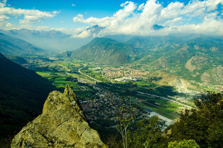"© Nurmukhammad Abdukarimov • ""View of Val Susa from Sacra"" Aerial View Beauty In Nature Cloud - Sky Day Green Color Landscape Mountain Mountain Range Nature Non-urban Scene Outdoors Remote Sacra Di San Michele Sant'Ambrogio Scenics Sky Torino Tourism Tranquil Scene Tranquility Miles Away EyeEmNewHere The Week On EyeEm Lost In The Landscape"