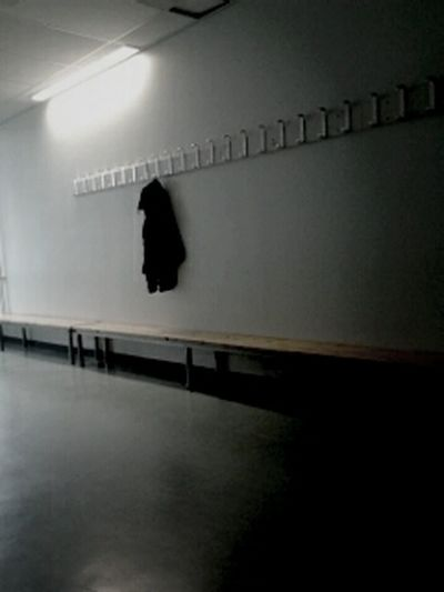 a lonely coat at school... Daydreaming