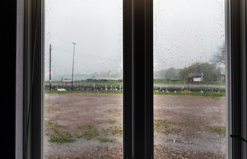 Close-up Day Drop Field Glass - Material Indoors  Indoors  Inside Looking Through Window Nature No People Rain Rain Outside The Window Raining Rainy Days Sky Transparent Tree Water Waterdrop Waterdrops Wet Window Window Frame Window View
