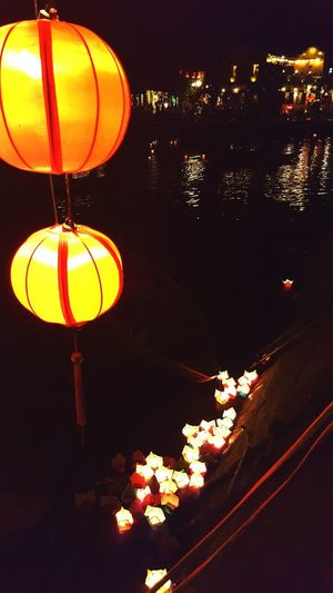 Illuminated Hanging Indoors  Close-up Sky The Week On EyeEm Beautiful Places In The World My Smartphone Life Travel Destinations Lanterns In A Night Sky Waterscape Multi Colored Floating On Water Floating Lanterns Boats