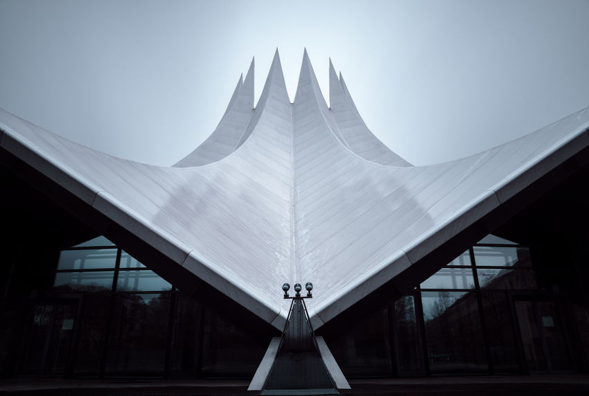Longexposure of the Tempodrom in Berlin, Germany Architecture Berlin Berlin City Berlin Photography Berlinstagram Built Structure Capital Cities  Copy Space Day Fine Art International Landmark Long Exposure Modern No People Nobody Outdoors Philipp Dase Rainy Day Roof Sightseeing Sky Tempodrom Triangle Shape Urban Icon Discover Berlin