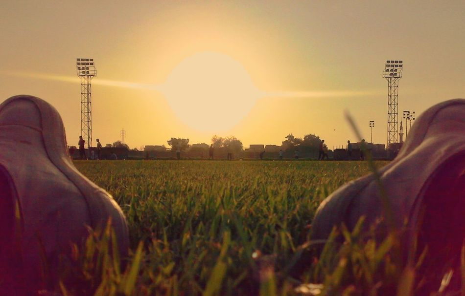sunset Agriculture Beauty In Nature Cereal Plant Clear Sky Day Field Focus On Background Grass Growth Nature One Person Outdoors People Plant Real People Rural Scene Sky Sun Sunset The Great Outdoors - 2017 EyeEm Awards Tree