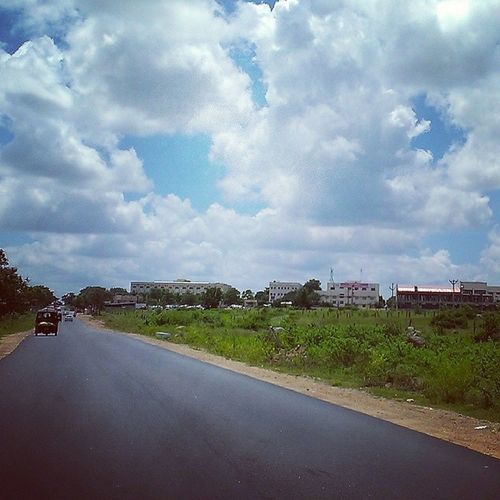 Road to hell :D Collegeroad Clouds Blue HTC mobilephotography etc