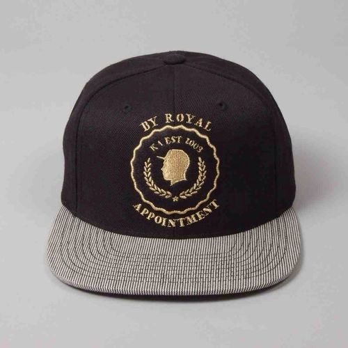 King Apparel Gold Seal Strapback www.designertop2bottom.com King Apparel Hot Swag Strapback
