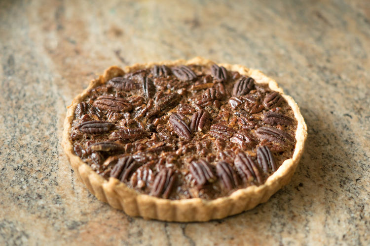 Freshly baked pecan pie
