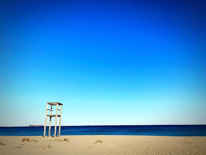 Helppoint on the beach Sky Sea Water Beach Land Horizon Over Water Horizon Scenics - Nature Blue Beauty In Nature Clear Sky Day Outdoors Sand Nature