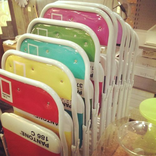 Pantone reference chairs, iwant! Chairs Design Creative Colorful Pantone Idea Home Seats