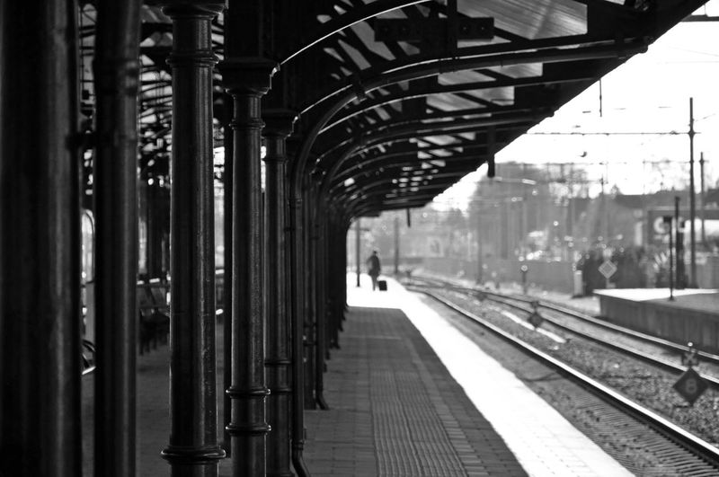 View Of An Empty Railway Station