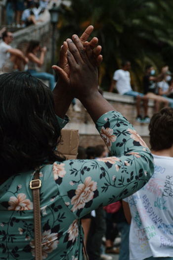 Blm - demonstration black lives matter in rome