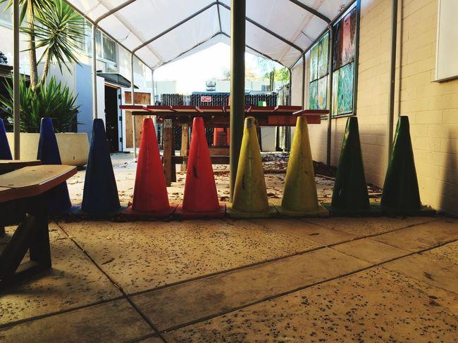 Battle Of The Cities Cones Deadend Color Colors Colorful School Yard Alley The Color Of School