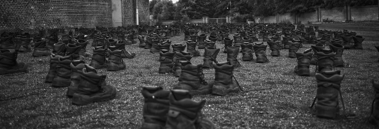 The long walk B/w B/W Photography Boots Boots❤ Bottes Camps Chaussures  Disturbing History Labor Labour Loneliness Long Forgotten Lourd Oppressante Reclusion S/w S/w-Fotografie Shoes Shoes ♥ Solitude Stiefel Vergessene Orte Walk Camp