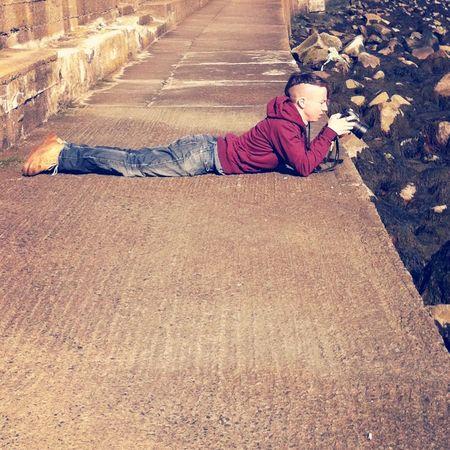 The lengths Photographers go to capture a Photo . Enjoying The Sun :)