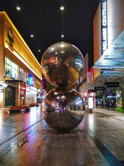 Mall'sBalls TheMall'sBalls Sphere Sculptures Nightphotography Street Photography Taking Photos Southaustralia Mall's Balls Mallsballs Malls Balls Bigballs Big Balls Night Photography Night Streetphotography No People Check This Out Rundle Mall Rundlemall Adelaide, South Australia ChromeBalls Chrome Balls Silver Colored Chrome Balls Silverballs Silver Balls Sculpture Lights