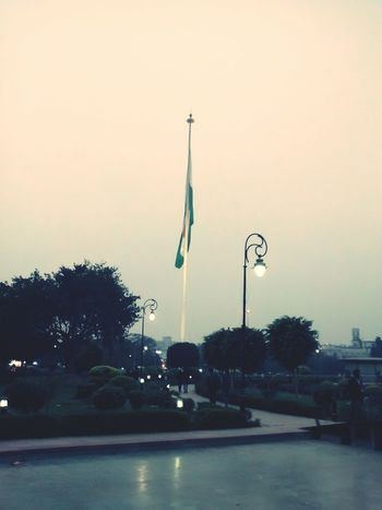 Indian Flag , Lights in CP, Delhi.