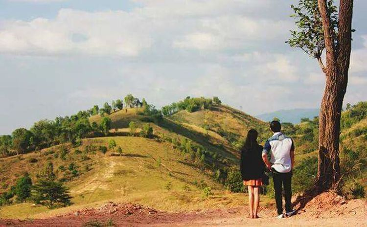 The Great Outdoors - 2017 EyeEm Awards Two People Agriculture Rear View Togetherness Men Rural Scene Growth Nature Real People Farmer Standing Tree People Adult Full Length Scenics Day Women Cereal Plant Outdoors