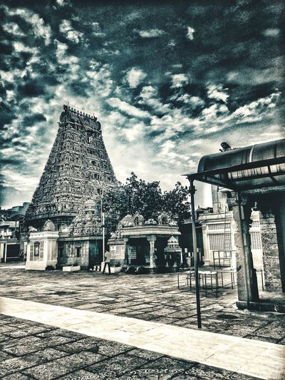 Architecture Tamilnadutourism Tamil Nadu, India Oneplus2 India Templephotography Eyeemphotography Snapseed Editing  Oneplusphotography Outdoors Ancient Civilization Day Built Structure History Travel Destinations Temple Chennai Mylapore Kabaleeshwarar Temple Kapaleeswarar Temple Chennai Diaries Chennai_chapter Sky Cloud - Sky Snapseed Editing
