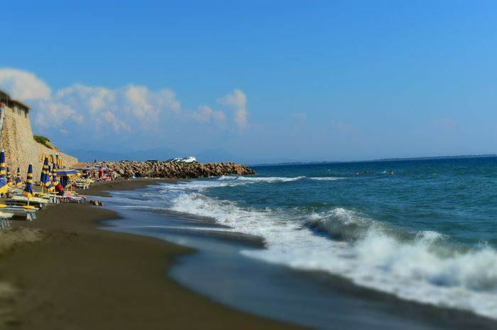 Sea Beach Horizon Over Water Water Nature Sky Scenics Beauty In Nature Day Outdoors Wave Tranquility Sand Travel Destinations Built Structure Architecture No People Blue Building Exterior Albania Ranaehedhur Done That.