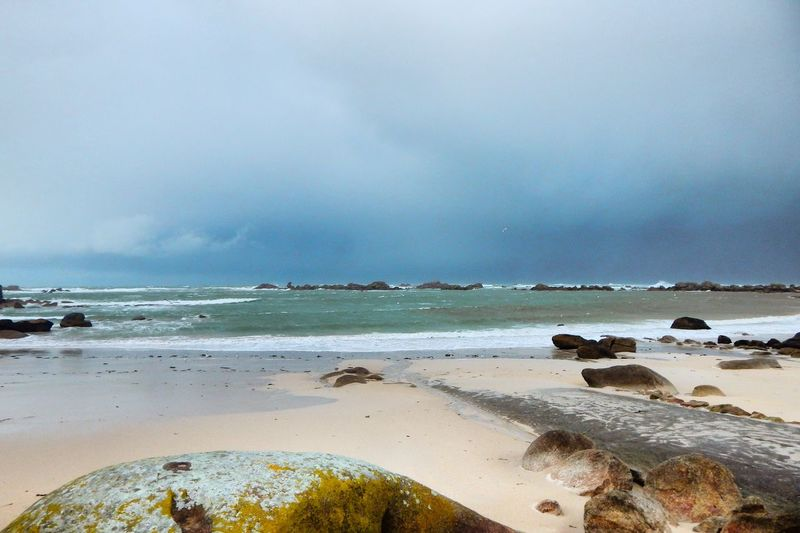 Quiet Moments Rock Nature Photography Coastline Ocean Photography Beach Beautiful Bretagnetourisme Enjoying Life Wonderful Bretagne France Blue French Brittany Sky Landscapes With WhiteWall Nature Evasion Grey Waves Weather Water Walk The Great Outdoors - 2016 EyeEm Awards