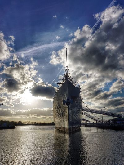 End of days: this gorgeous retired ship is set to be scrapped. Farewell, captain. Battleship Washington DC Adieu Potomac River Riverside River Potomac Ship In Sunlight Sunlight River View