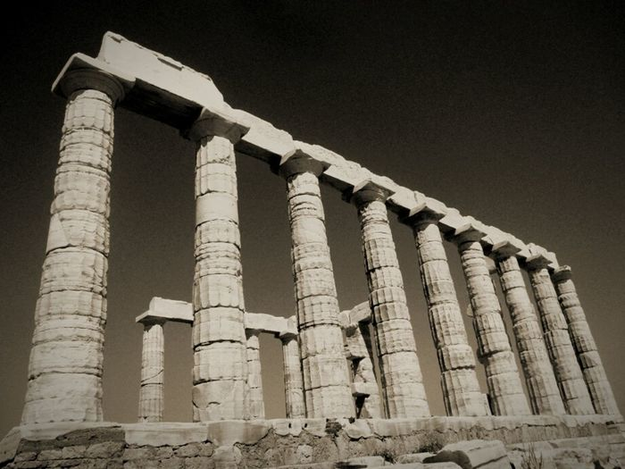 Sounio/The temple of God Poseidon Greece On The Road Ancient Architecture Ancient Ancient Culture Ancient Greek Ancestors Traveling Looking For New Destinations GREECE ♥♥