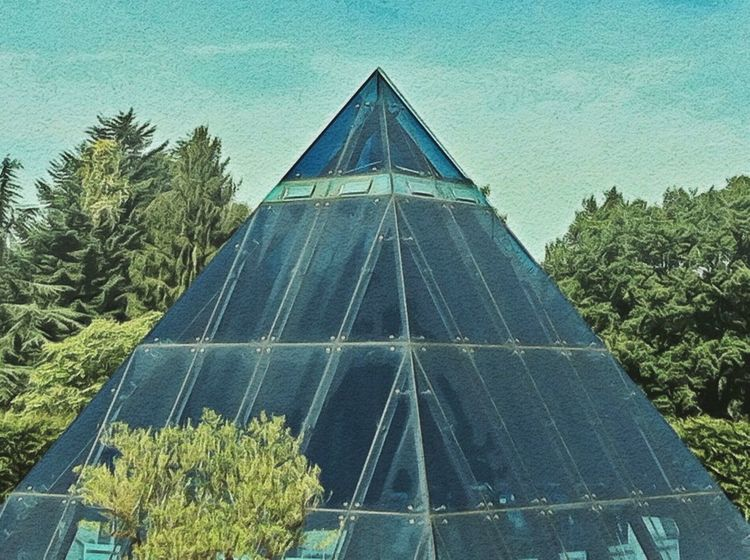 Pyramid at the Loki Schmidt Park Illuminati Eye4photography  From My Point Of View Connected With Nature Getting Inspired Buildings & Sky Watercolor Jopesfotos - Buildings
