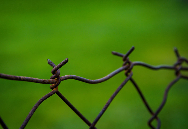 Barbed Wire Blurred Chainlink Fence Close Up Close-up Danger Day Detail Fence Fences Kerber Macro Macro Photography Macro_collection Metal No People Outdoors Protection Safety Security Sharp Spiked Wire