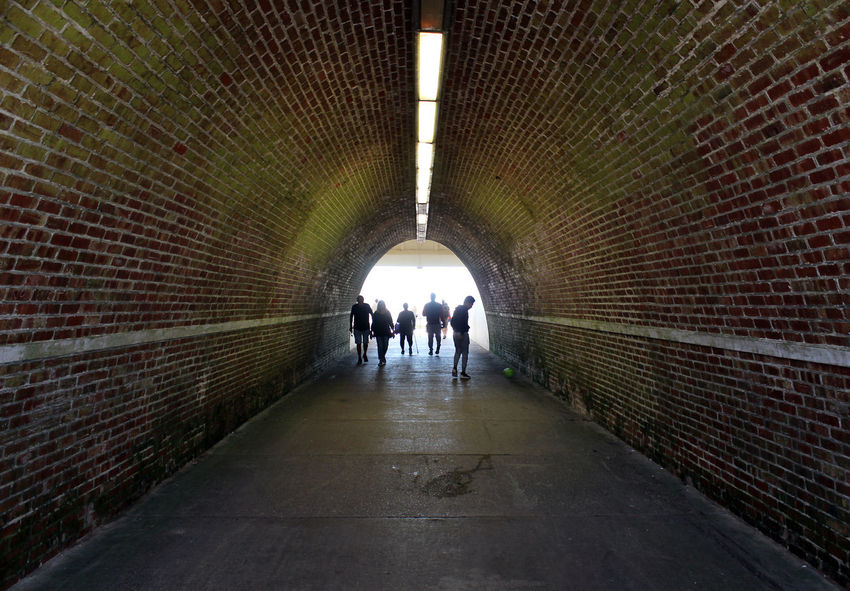 Dark EyeEmNewHere Green LINE Lines People Watching Postcode Postcards Underpass Architecture Brick Built Structure Damp Emerald Green Gloomy Illuminated Old Bricks People Point Of View Real People The Way Forward Tunnel Tunnel View Tunnel Vision Wet