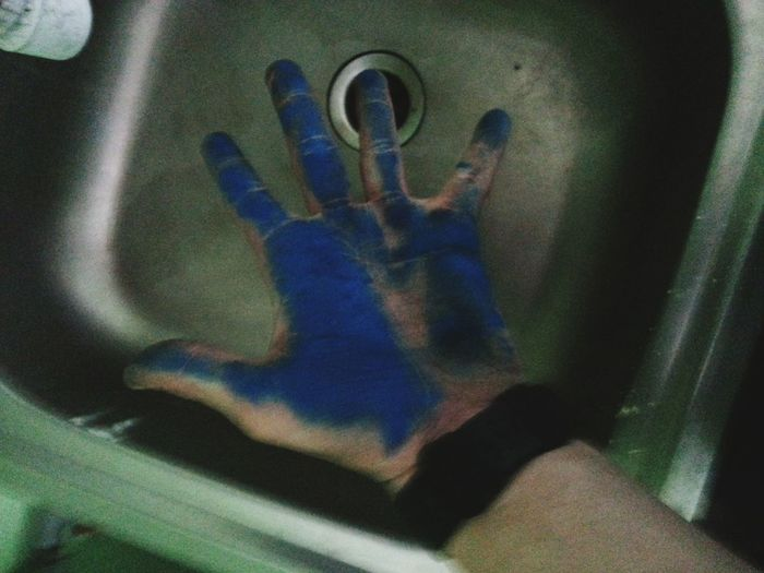 I'm blue :) in work :) Blue Niebieski