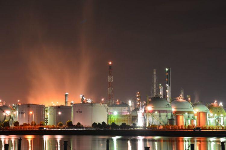 夜景夜景景工場場風景景Nikonn