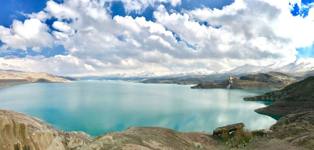 Photography Mobilephotography IPhoneography Nature Lake Water Mountain Beauty In Nature Sky Landscape Day No People Outdoors Clouds And Sky River Cloud - Sky Iran Talaghan