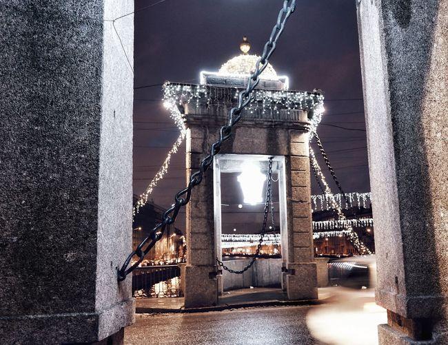 Bridge Night Illuminated Celebration Christmas Decoration Winter EyeEm Selects No People Day Spraying Outdoors Architecture