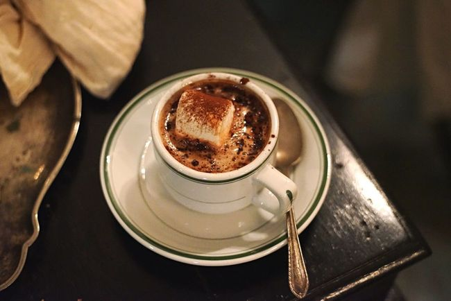 Drink Saucer Refreshment Food And Drink Frothy Drink Table Close-up No People Mashmallow Hot Drink Cocoa Sweet