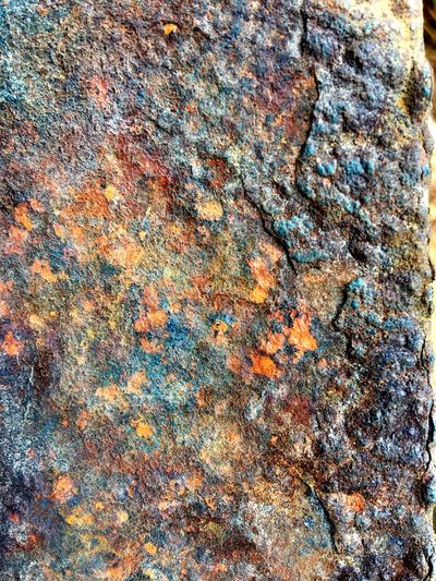 Full frame shot of Rusty texture on metal surface Full Frame Backgrounds Pattern No People Multi Colored Textured  Day Outdoors Close-up Land Beach Art And Craft Sunlight Abstract High Angle View Rock Nature Creativity Textile Chaos