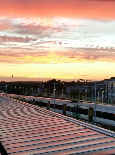 Sunset Train Station Train