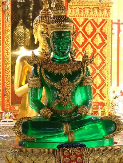 Art Budda Statue. Cultures Decoration Decorations Design Gold Colored Gold Colour Green Green Budda Statue Illuminated Indoors  No People Ornate Ornate Ceiling Pattern Pattern Pieces Religion Sitting Spirituality Statue