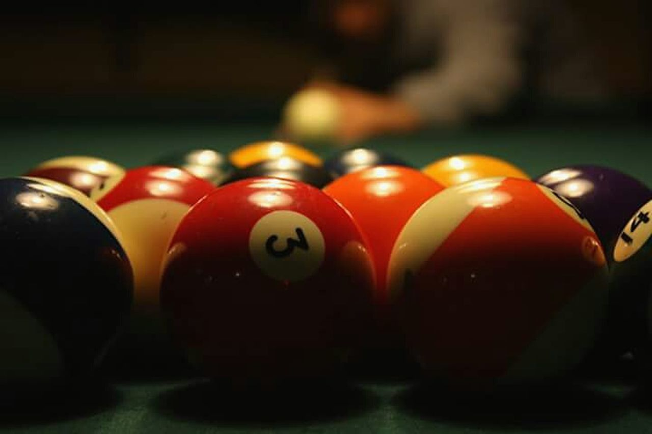 sport, pool ball, leisure games, pool - cue sport, table, pool table, red, indoors, snooker, close-up, snooker ball, competition, no people, pool cue, snooker and pool, day