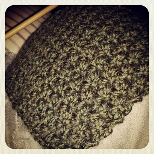 &moreknitting&moreknitting Knit Homemade Greenscarf Mossstitch